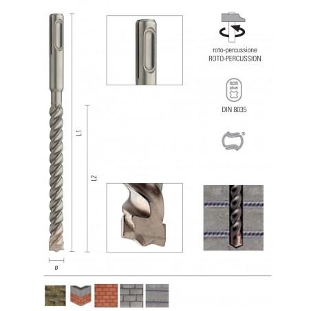 Burghiu pentru beton armat cu prindere SDS plus - ONIX