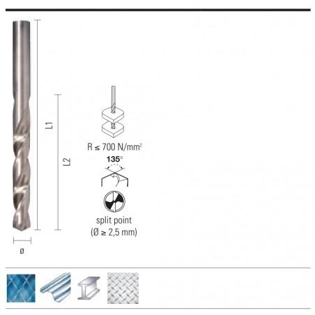 Burghiu HSS pentru metal - ONIX E