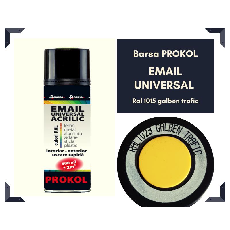 BARSA PROKOL email acrilic galben trafic ral 1023 lucios - 400ml