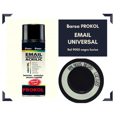 BARSA PROKOL email acrilic lucios negru ral 9005  - 400ml