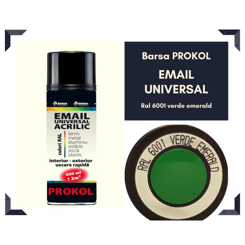 BARSA PROKOL email acrilic verde emerald ral 6001 lucios - 400ml