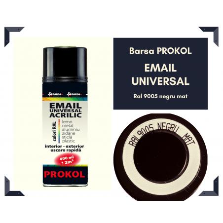 Email acrilic mat negru ral 9005 - BARSA PROKOL - 400ml