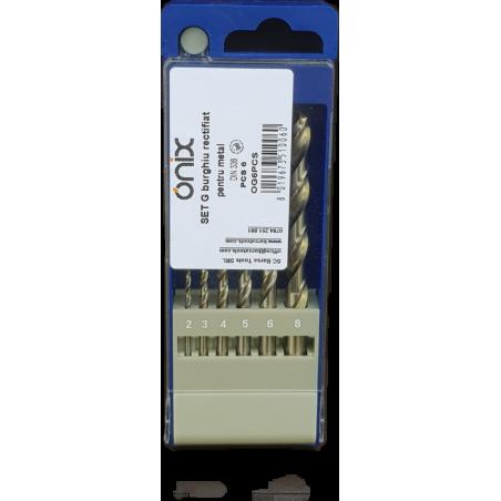 ONIX G set 6 burghie: Ø2,0 - 3,0 - 4,0 - 5,0 - 6,0 - 8,0mm