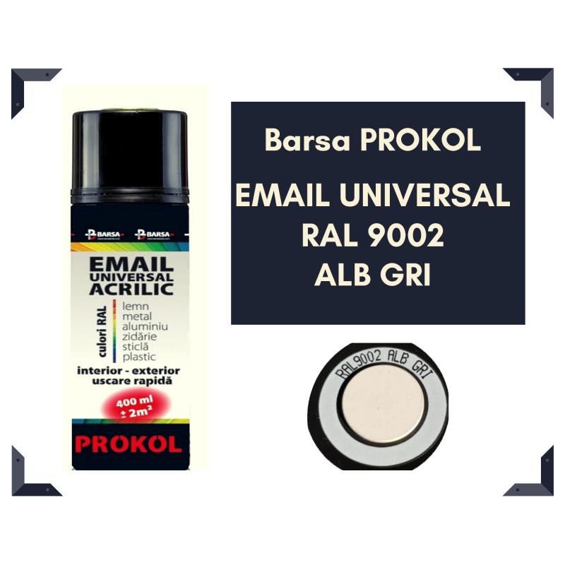 BARSA PROKOL email acrilic gri alb ral 9002 lucios - 400ml